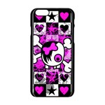 Emo Scene Girl Skull iPhone 6/6S Black Enamel Case
