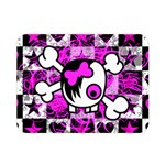 Emo Scene Girl Skull Double Sided Flano Blanket (Mini)