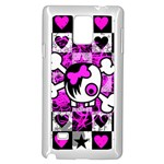 Emo Scene Girl Skull Samsung Galaxy Note 4 Case (White)