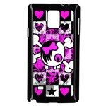 Emo Scene Girl Skull Samsung Galaxy Note 4 Case (Black)