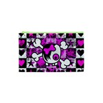 Emo Scene Girl Skull Cosmetic Bag (XS)