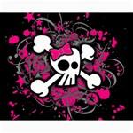 Girly Skull & Crossbones Canvas 16  x 20