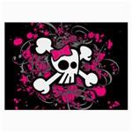 Girly Skull & Crossbones Large Glasses Cloth