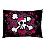 Girly Skull & Crossbones Pillow Case (Two Sides)