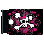Girly Skull & Crossbones Apple iPad 2 Flip 360 Case