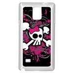 Girly Skull & Crossbones Samsung Galaxy Note 4 Case (White)