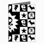 Gothic Punk Skull Greeting Card