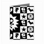 Gothic Punk Skull Mini Greeting Cards (Pkg of 8)