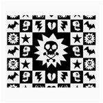 Gothic Punk Skull Small Glasses Cloth