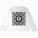 Gothic Punk Skull Kids  Long Sleeve T-Shirt