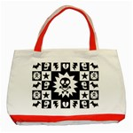 Gothic Punk Skull Classic Tote Bag (Red)
