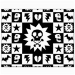 Gothic Punk Skull Canvas 8  x 10