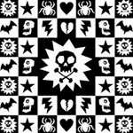 Gothic Punk Skull Canvas 16  x 16