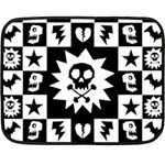 Gothic Punk Skull Fleece Blanket (Mini)