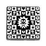 Gothic Punk Skull Memory Card Reader (Square 5 Slot)