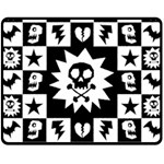 Gothic Punk Skull Fleece Blanket (Medium)