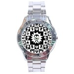 Gothic Punk Skull Stainless Steel Analogue Watch