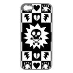 Gothic Punk Skull iPhone 5 Case (Silver)