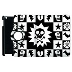 Gothic Punk Skull Apple iPad 2 Flip 360 Case
