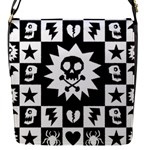 Gothic Punk Skull Flap Closure Messenger Bag (S)