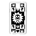 Gothic Punk Skull Samsung Galaxy Note 3 N9005 Case (White)