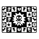 Gothic Punk Skull Double Sided Fleece Blanket (Small)