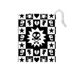Gothic Punk Skull Drawstring Pouch (Medium)