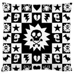 Gothic Punk Skull Large Flano Cushion Case (One Side)