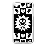 Gothic Punk Skull iPhone 6 Plus/6S Plus Enamel White Case