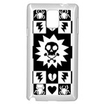 Gothic Punk Skull Samsung Galaxy Note 4 Case (White)