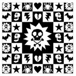 Gothic Punk Skull Large Satin Scarf (Square)