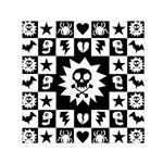 Gothic Punk Skull Small Satin Scarf (Square)