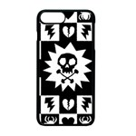 Gothic Punk Skull iPhone 7 Plus Seamless Case (Black)