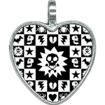 Gothic Punk Skull Heart Necklace