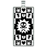 Gothic Punk Skull Rectangle Necklace