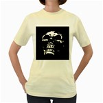 Morbid Skull Women s Yellow T-Shirt