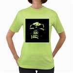 Morbid Skull Women s Green T-Shirt
