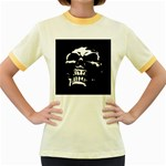 Morbid Skull Women s Fitted Ringer T-Shirt
