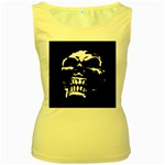 Morbid Skull Women s Yellow Tank Top