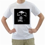 Morbid Skull Men s T-Shirt (White) (Two Sided)