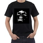 Morbid Skull Men s T-Shirt (Black) (Two Sided)