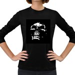 Morbid Skull Women s Long Sleeve Dark T-Shirt