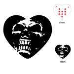 Morbid Skull Playing Cards Single Design (Heart)