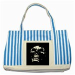 Morbid Skull Striped Blue Tote Bag