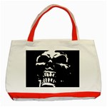 Morbid Skull Classic Tote Bag (Red)