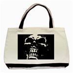Morbid Skull Basic Tote Bag (Two Sides)