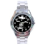 Morbid Skull Stainless Steel Analogue Watch