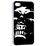 Morbid Skull iPhone 4/4s Seamless Case (White)