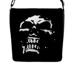 Morbid Skull Flap Closure Messenger Bag (L)