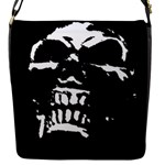 Morbid Skull Flap Closure Messenger Bag (S)